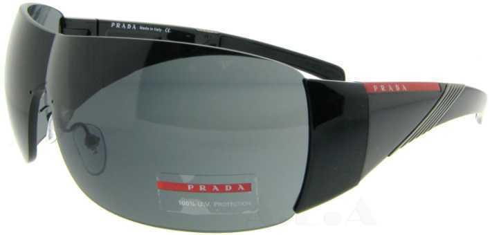 Prada SPS 07 H 1Ab1A1 Black SPS07H 07H Sunglasses