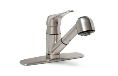 glacier bay pull out kitchen faucet in brushed nickel 497
