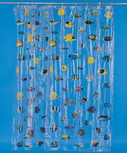 Clear Shower Curtain With Fish Design - Best Showers Design