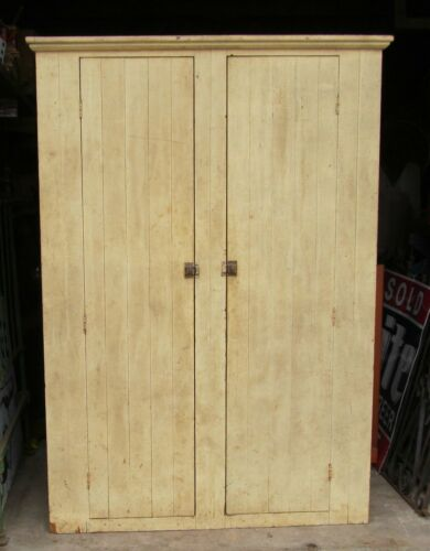 Primitive Pine Cabinet Original Paint in Antiques, Furniture, Cabinets & Cupboards | eBay