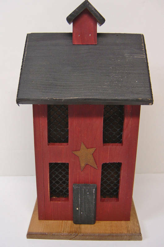 Primitive Wood Lighted House Country Saltbox Decor