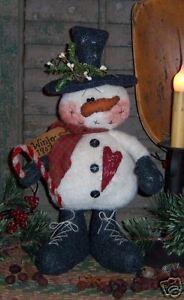 Primitive Snowman Doll Pattern