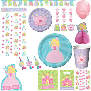 prinzessin kindergeburtstag deko prinzessinnen party geburtstag princess set ebay. Black Bedroom Furniture Sets. Home Design Ideas