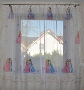 prinzessin princess kinderzimmer gardine gardinen vorh nge schals ebay. Black Bedroom Furniture Sets. Home Design Ideas