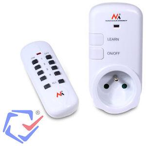 prise de courant lectrique douille int rieure command distance telecommande ebay. Black Bedroom Furniture Sets. Home Design Ideas