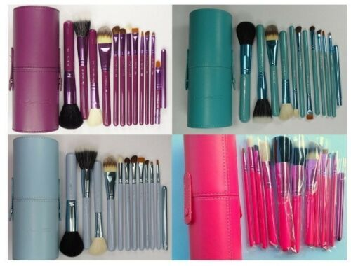 Pro Makeup Brush Set 12 pcs Kit w/ Leather Cup Holder Case Cosmetic Make up Tool in Health & Beauty, Makeup, Makeup Tools & Accessories | eBay