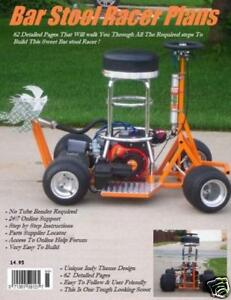 Pro Street Bar Stool Racer Plans Unique Indy Design in Everything Else, Information Products, Other | eBay
