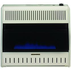 Procom 30K BTU Vent Free Blue Flame Gas Space Heater Dual Fuel With