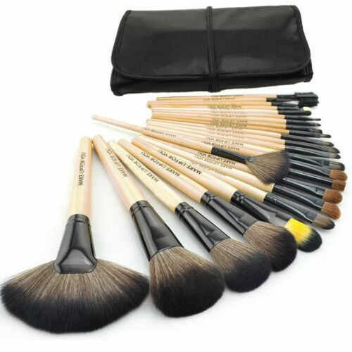 Professional 24 PCS Cosmetic Makeup Brush Set Make-up Toiletry Kit Make Up wood in Health & Beauty, Makeup, Makeup Tools & Accessories | eBay
