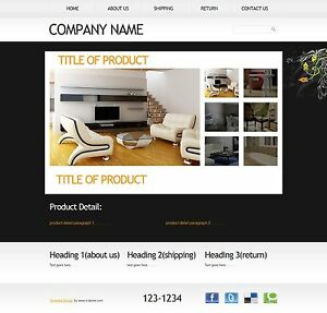 professional html ebay listing template auction template unique design ebay. Black Bedroom Furniture Sets. Home Design Ideas