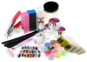 Profi. Nail Art Acrylic Liquid Set Nagel-Kunst Acryl Puder Dekoration Werkzeug | EBay
