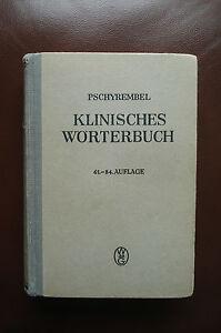 Pschyrembel-Klinisches-Woerterbuch-61-84-Auflage-1944