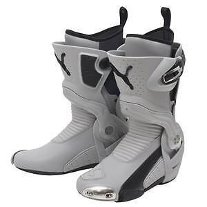 Puma 1000 Grey Black Or Black Silver Motorcycle Boot Bike