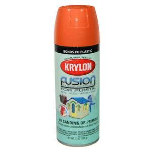 pumpkin orange krylon fusion plastic spray paint 2337 ebay. Black Bedroom Furniture Sets. Home Design Ideas