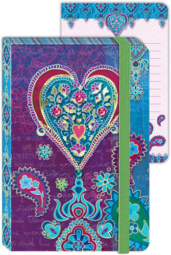 Punch Studio Everyday 2012 Contempo Paisley Mini Journals - Purple Heart 85585 in Books, Accessories, Blank Diaries & Journals | eBay