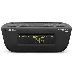 pure siesta mi2 mi 2 digital dab fm alarm clock radio usb black new update model ebay. Black Bedroom Furniture Sets. Home Design Ideas