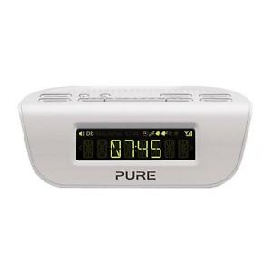 pure siesta mi bedside dab digital and fm alarm clock radio white vl 61503 ebay. Black Bedroom Furniture Sets. Home Design Ideas