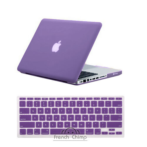 Purple hard rubberized case cover w/keyboard cover for macbook pro 13'' in Computers/Tablets & Networking, Laptop & Desktop Accessories, Laptop Cases & Bags | eBay