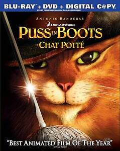 Puss in Boots (Blu-ray/DVD, 2012, Canadi...