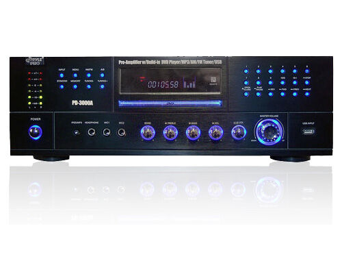 Pyle PD3000A Home Audio 3000W Stereo Receiver DVD CD  Player USB Aux