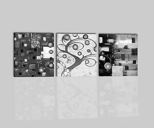 Quadri moderni astratti dipinti a mano olio su tela albero for Quadri in bianco e nero moderni