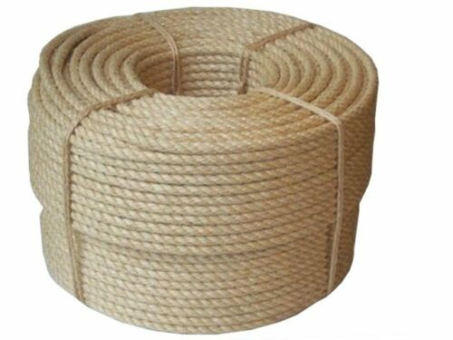 qualit everlasto 39 naturel sisal organique corde 12mm 14mm ebay. Black Bedroom Furniture Sets. Home Design Ideas