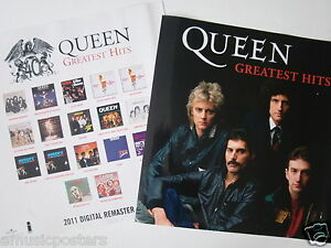 QUEEN-2011-DIGITAL-REMASTERED-GREATEST-HITS-2-SIDED-THAILAND-PROMO-POSTER