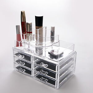 ... Makeup-Cosmetic-Clear-Acrylic-Organiser-Organizer-Display-w-Drawers