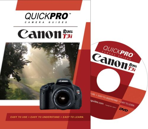 QuickPro Camera Training DVD For Canon T3i Instructional Video Guide SLR NEW in Cameras & Photo, Manuals & Guides | eBay