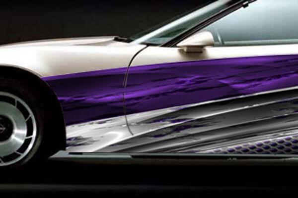 Race Car Graphics Vinyl Wrap Stripes IMCA Late Model Decal Trailer Dirt Racing