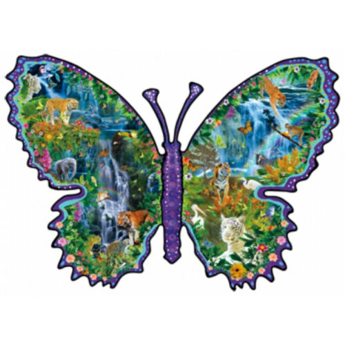 RAINFOREST BUTTERFLY by Lori Schory - NEW - 1000 piece SHAPED SunsOut Puzzle in Toys & Hobbies, Puzzles, 1970-Now | eBay