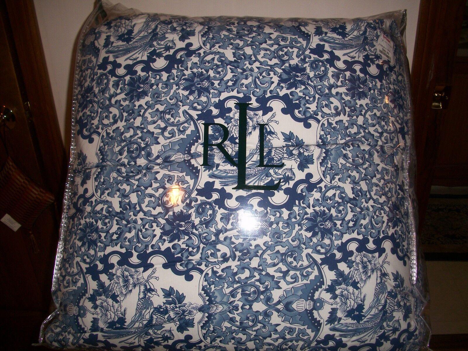 Lauren Porcelain Tamarind Bird King Quilt Toile Blue White
