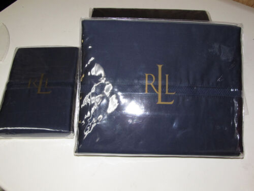 RALPH LAUREN REGENT NAVY 4PC TWIN SHEET SET NIP in Home & Garden, Bedding, Sheets & Pillowcases | eBay