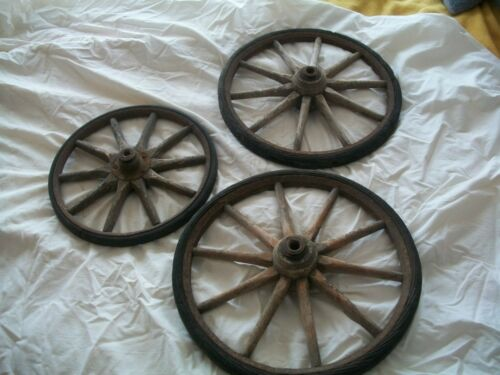++RARE++ 1900's ANTIQUE WOODEN WHEELS CART CARRIAGE BUGGY WHEELS in Antiques, Primitives | eBay