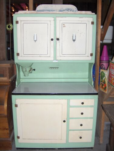 RARE ANTIQUE VINTAGE HOOSIER KITCHEN CABINET CUPBOARD in Antiques, Furniture, Cabinets & Cupboards | eBay