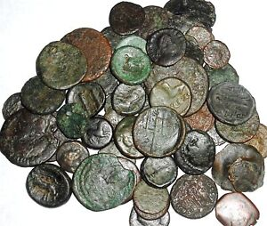 RARE LOT 10 UNSEARCHED LOW QUALITY ANCIENT ROMAN & GREEK COINS in Coins & Paper Money, Coins: Ancient, Roman: Imperial (27 BC-476 AD) | eBay