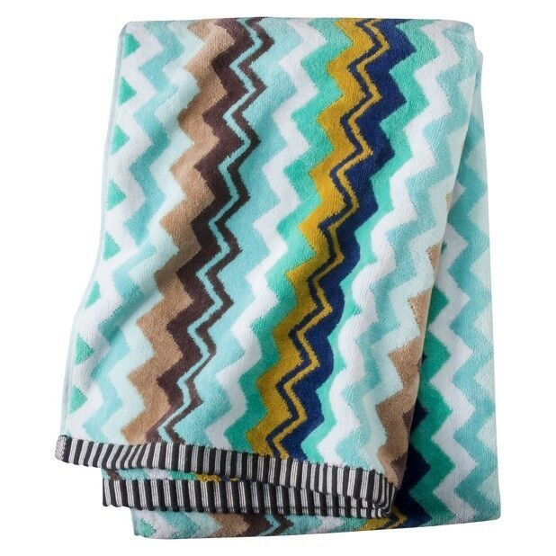 new missoni target home large bath beach towel soft blue via chevron