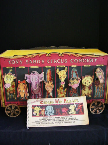 RARE-TONY SARG'S CIRCUS CONCERT WAGON 1930'S-40'S WITH SONG BOOK in Toys & Hobbies, Vintage & Antique Toys, Other | eBay