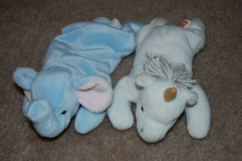 RARE TY Beanie Baby Lot 1st Tush Peanut and 2nd Tush Coarse Mane Mystic in Toys & Hobbies, Beanbag Plush, Ty | eBay