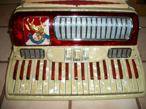 RARE VINTAGE NOBLE NOBILITY ITALY PIANO ACCORDION CONCERTINA CASE BUTTON BOX in Musical Instruments & Gear, Accordion & Concertina | eBay