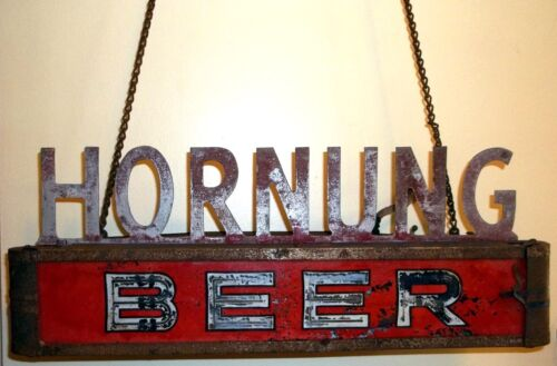 RARE Vintage HORNUNG BEER Lighted Hanging SIGN~Philadelphia, PA Tioga BREWERY in Collectibles, Breweriana, Beer, Signs, Tins | eBay