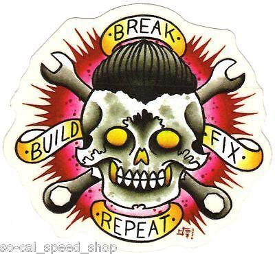 Rat Hot Rod Custom Decal Skull Gasser Chopper Bike Tattoo Car Culture Art Bobber