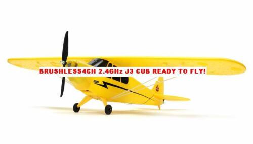 "RC Airplane J3 PIPER CUB BRUSHLESS 2.4GHz 4CH RTF w/ LiPo & Charger 42"" WING in Toys & Hobbies, Radio Control & Control Line, Radio Control Vehicles 
