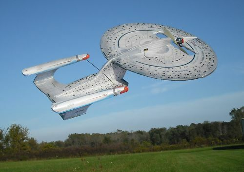 RC Star Trek Enterprise D Kit with Printed Skins