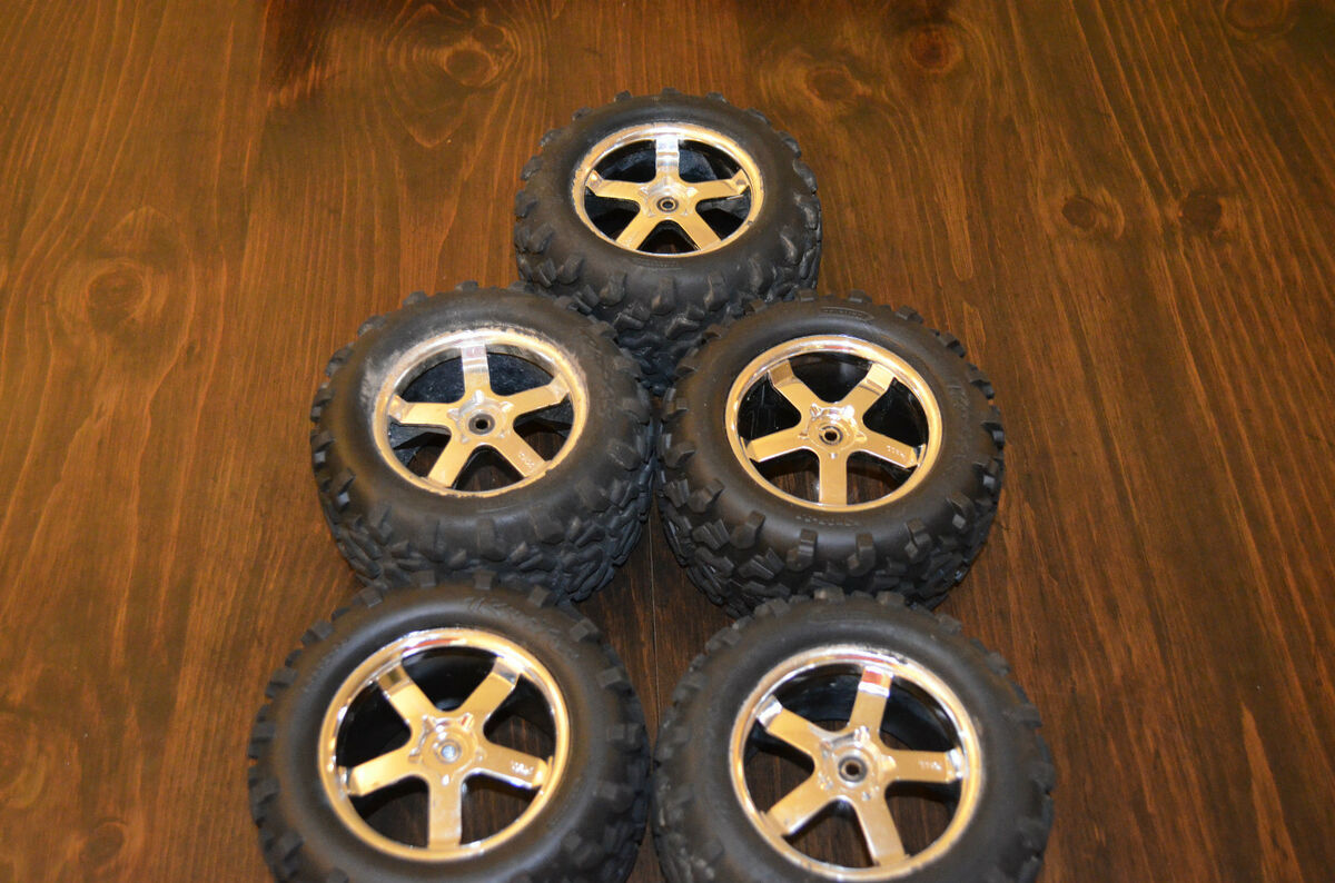 RC Truck Tires Rims Monster Truck Tires From Traxxas T maxx GREAT