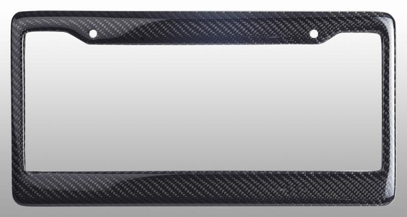 Real 100 Carbon Fiber License Plate Frame Tag Cover Original 3K Twill JDM FF