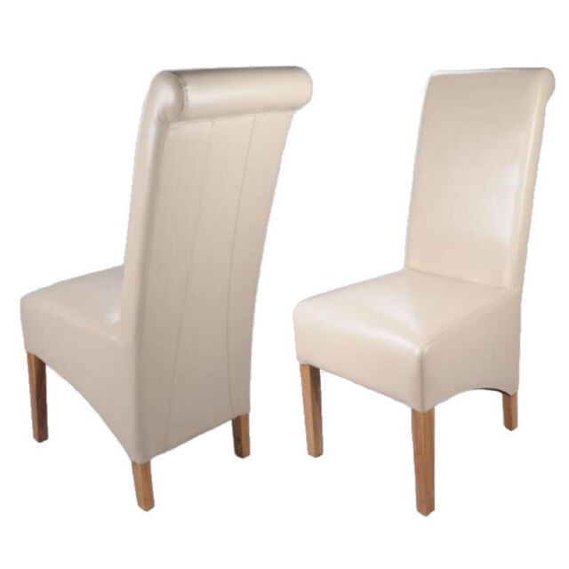 Faux leather dining chairs dining room furniture ebay for Faux leather dining chairs