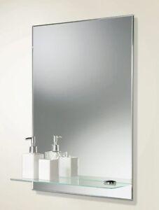 Brilliant HiB Fahrenheit 50 Steam Free Demister LED Illuminated Bathroom Mirror