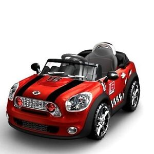 red kids electric ride on mini cooper toy car battery parental remote control ebay. Black Bedroom Furniture Sets. Home Design Ideas