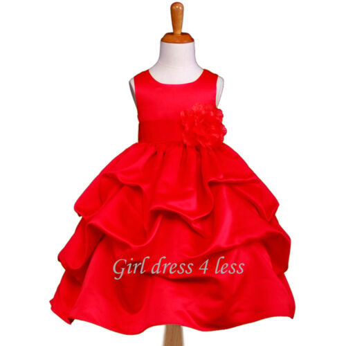 RED PICK UP PARTY BIRDAL FLOWER GIRL DRESS 6M 9M 12M 18M 2 3/4 5/6 7/8 9/10 12 in Clothing, Shoes & Accessories, Wedding & Formal Occasion, Girls' Formal Occasion | eBay